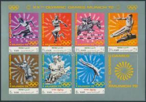 1971 Nyári olimpia (III) kisív Mi 1471-1477