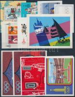 Summer Olympics 14 countries 14 block in 3 steck card, Nyári olimpia motívum tétel 14 klf ország 14 klf blokk 3 stecklapon