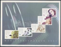 2001 Színészek bélyegfüzet MH 46 (Mi 2218-2222 C)