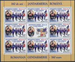 160th anniversary of gendarmerie minisheet, 160 éves a csendőrség kisív