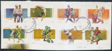 2002 Sport sor Mi 2603-2610 kivágáson elsőnapi bélyegzéssel