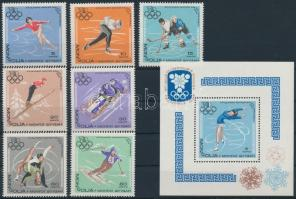 1967 Téli olimpia, Grenoble sor Mi 472-478 + blokk Mi 13