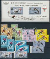 1967 Téli olimpia, Grenoble sor Mi 123-130 A+B + blokk Mi 11A