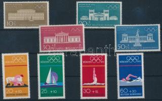 1970 + 1972 Nyári olimpia 2 klf sor Mi 624-627 + 719-722