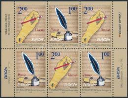 Europa CEPT Letter Stampbooklet sheet, Europa CEPT: Levél bélyegfüzetlap