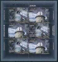 Europa CEPT: Astronomy stamp booklet sheet, Europa CEPT: Csillagászat bélyegfüzetlap