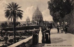 Rome, Roma; Pope Pius X, Giardino Vaticano
