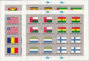 Flags (VI) minisheet set, Zászlók (VI.) kisív sor