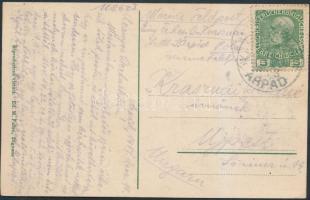 """Navy mail postcard """"S.M.S. ÁRPÁD"""", Képeslap haditengerészeti postával"""