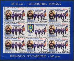 160 éves a csendőrség kisív, 160th anniversary of gendarmerie minisheet