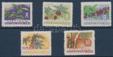 1962 Növények sor Mi 196-200