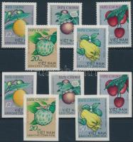 Trópusi gyümölcs fogazott és vágott sor, Tropical fruit perforated and imperforated set