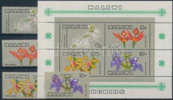 1969 Orchidea sor Mi 110-113 + blokk 14