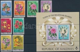1973 Virág sor Mi 487-494 + blokk Mi 22