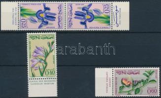 1965 Virágok ívszéli sor első érték párban Mi 542-544