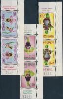 1965 Orchidea ívsarki fordított állású párok Mi 556-558