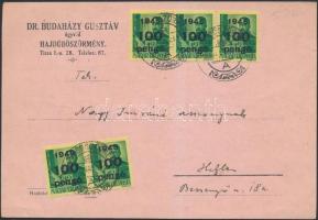 1946 (7. díjszabás) Helyi levelezőlap HAJDUBÖSZÖRMÉNY