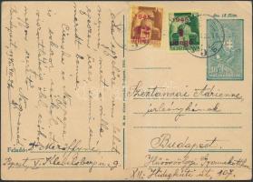 1945 (2. díjszabás) Díjkiegészített díjjegyes helyi levelezőlap