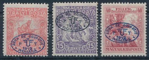 Debrecen I. 1919 Hadisegély III. sor (13.000) / Mi 11-13 Signed: Bodor