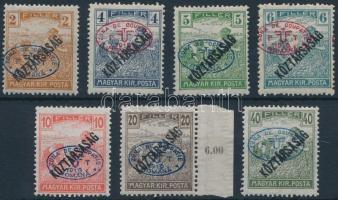 Debrecen I. 1919 7 klf Arató/Köztársaság érték (25.000) / Mi 43, 45-50 Signed: Bodor