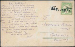 1912 Képeslap KOMÁROM PU pályaudvari bélyegzéssel