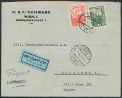Airmail cover to Hungary, Légi levél Budapestre
