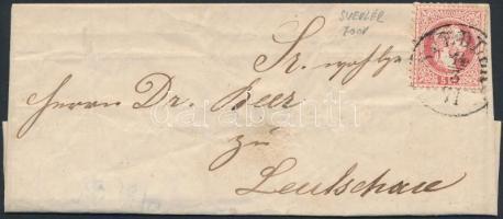 1871 5kr levélen / on cover SVEDLÉR