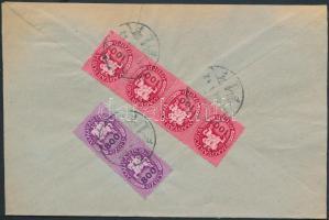 1946 (14.díjszabás) Helyi levél Lovasfutás 100eP négyescsíkkal és 800eP párral bérmentesítve