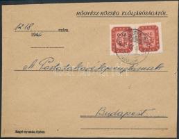 1946 (18.díjszabás) Távolsági levél Milpengős 2x200mP bérmentesítéssel (boríték szétnyitva)