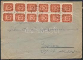 1946 (21.díjszabás) Távolsági levél Milpengős 20x20.000mP bérmentesítéssel / Domestic cover franked with 20 stamps