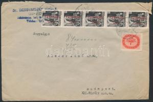 1946 (15.díjszabás) Távolsági levél 31 db bélyeggel bérmentesítve / Domestic cover franked with 31 stamps