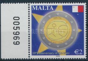 2009 10 éves az Euró ívszéli bélyeg Mi 1593