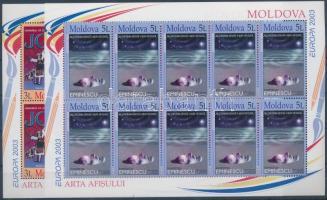 2003 Europa CEPT: Plakátművészet kisív sor Mi 463-464