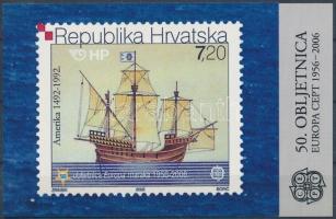 2005 50 éves az Europa CEPT bélyeg magánkiadású bélyegfüzet Mi 734