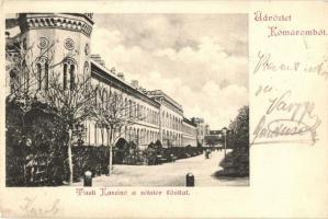 Komárno, casino, promenade, main street, Komárom, Tiszti kaszinó, Sétatér, Fő út