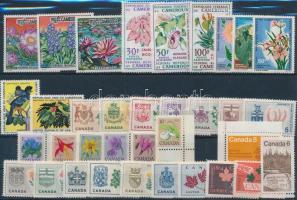 1964-1977 Birds, Flowers 6 diff sets + 5 diff stamps, Madár, virág motívum 1964-1977 6 klf sor + 5 klf önálló érték