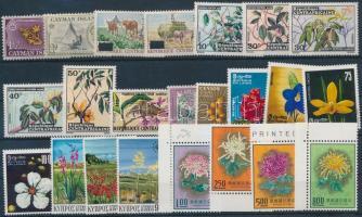 1950-1973 Flowers 5 diff sets + 8 diff stamps, Virág motívum 1950-1973 5 klf sor + 8 klf önálló érték