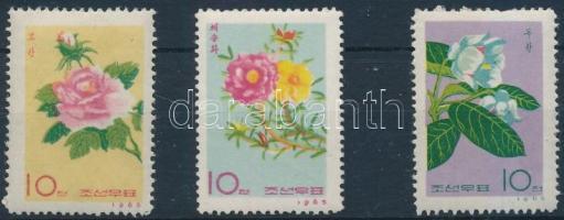 1965 Virág sor 3 értéke Mi 657-659
