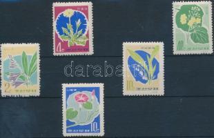 1966 Virág sor Mi 671-675A