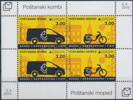 Europa CEPT, Postal vehicles block, Europa CEPT, Postai járművek blokk
