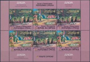 Scout mini sheet set + stamp-booklet sheet, Cserkészet kisív sor + bélyegfüzetlap
