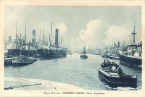 Buenos Aires, Dique Tercero / third dam, steamships, port