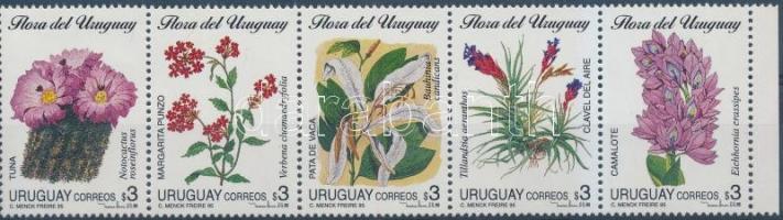 Native flowers set in stripe of 5, Őshonos virágok sor 5-ös csíkban