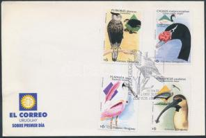 Őshonos madarak sor, Native birds set on FDC