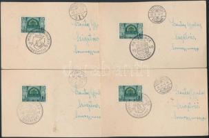 1938-1941 VISSZATÉRT bélyegzések, nagyrészt futott küldeményeken, 32 db