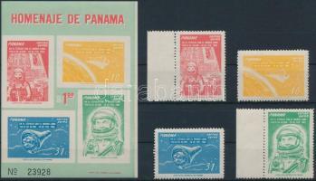 1962 Űrrepülés sor Mi 633-636 + blokk 12