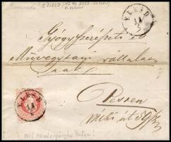 1868 5kr levélen / on cover ÉLESD - NAGY-VÁRAD - PEST