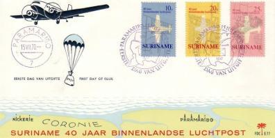 40th anniversary of Domestic airmail FDC set, 40 éves a belföldi légiposta sor FDC