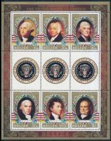 1986 USA elnökei kisív Mi 880-885 + blokk 80