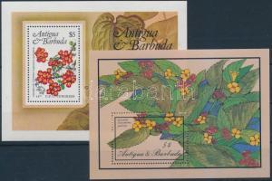 1984-1986 Flowers 2 diff block, 1984-1986 2 klf Virág blokk